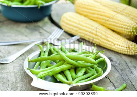 Fresh Green Beans Picked