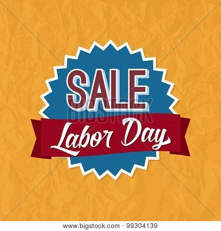 Labor Day Sale Badge Label