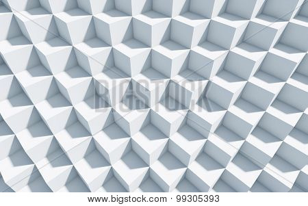 3D Monochrome Background With Cubes.