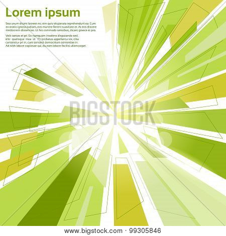 Abstract Triangle Geometrical Background with Copy Space for Text