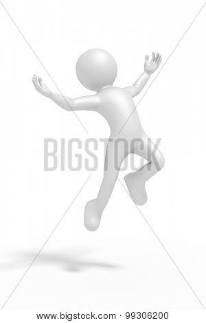An image of a jumping winning man