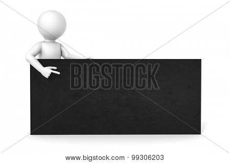 An image of a man with a black board with space for your content