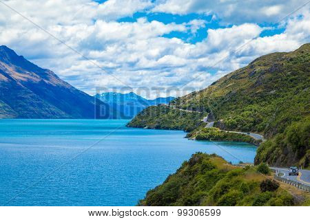 Lake in Queenstown, South Island, New Zealand
