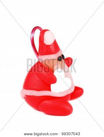 Polymer Clay Santa, Christmas Decoration