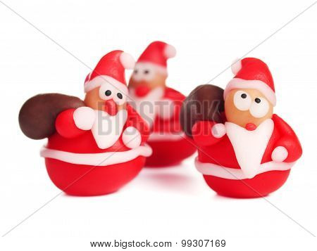 Polymer Clay Santas, Christmas Decoration