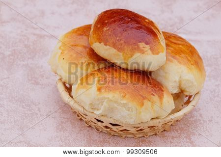 The image of pies in a basket