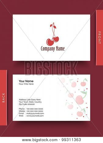 Creative stylish business card or visiting card design.