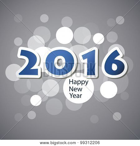 Best Wishes - Abstract Modern Style Happy New Year Greeting Card or Background, Creative Design Template - 2016