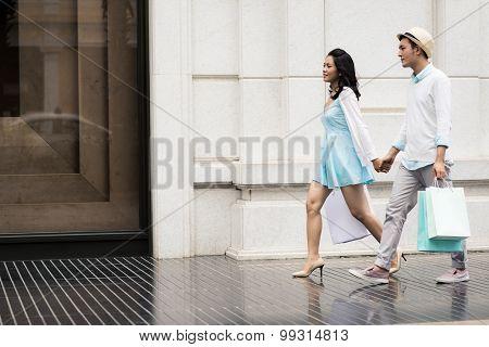 Couple On City Street