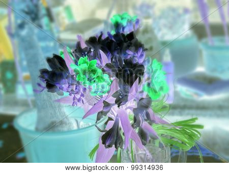 Freesia Bouquet With Color Inversion