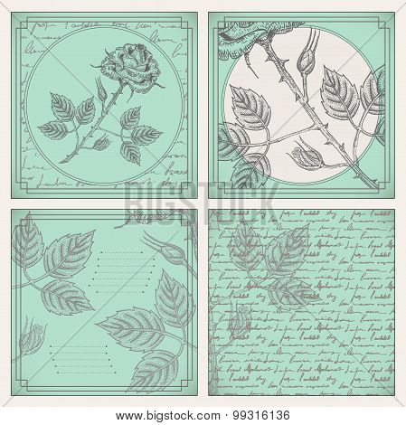 Engraved Rose Scrapbooking Set