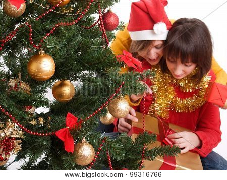 Women With Christmas Presents