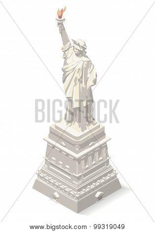 Liberty Statue Landmarks Isometric