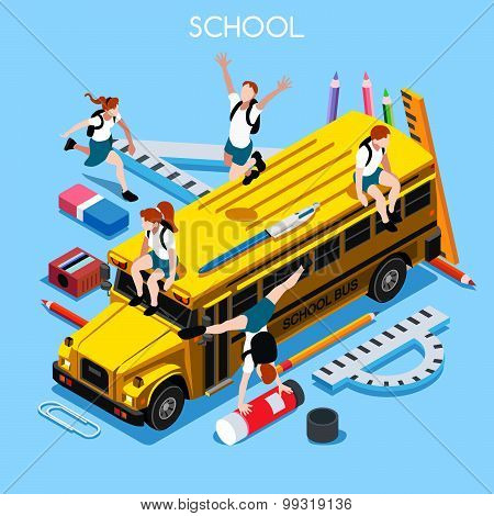 School Set 06 People Isometric