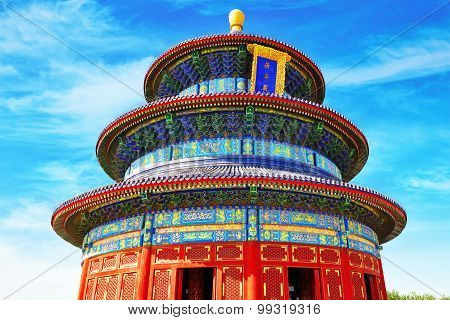 Wonderful And Amazing Temple - Temple Of Heaven In Beijing.inscription Means -