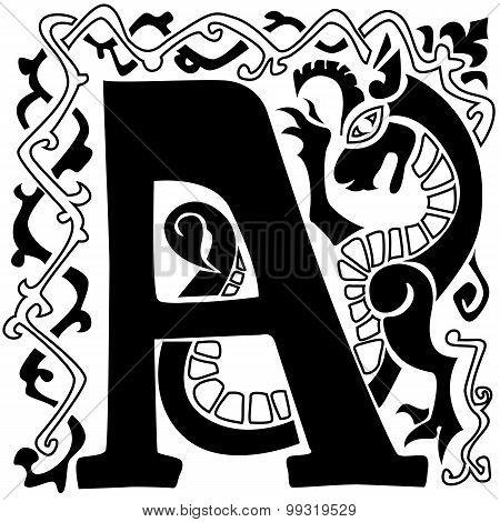 Letter Capital Vignette