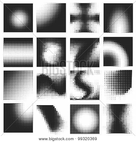 Halftone Pattern Set