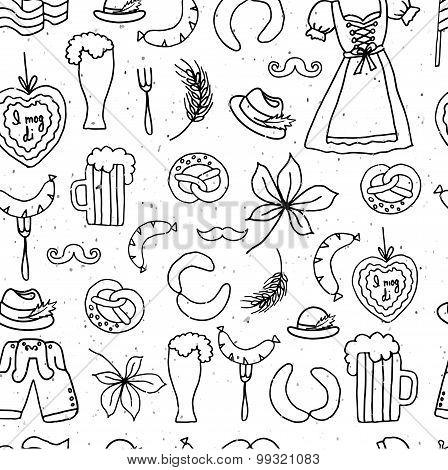 Vector Illustration Of Oktoberfest Elements Set
