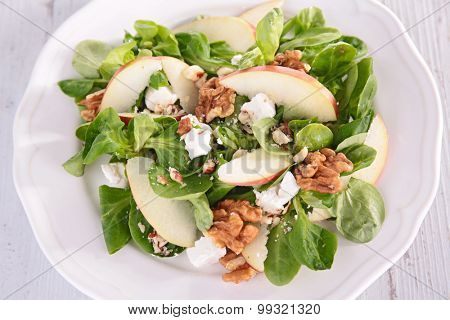 salad with apple and walnut