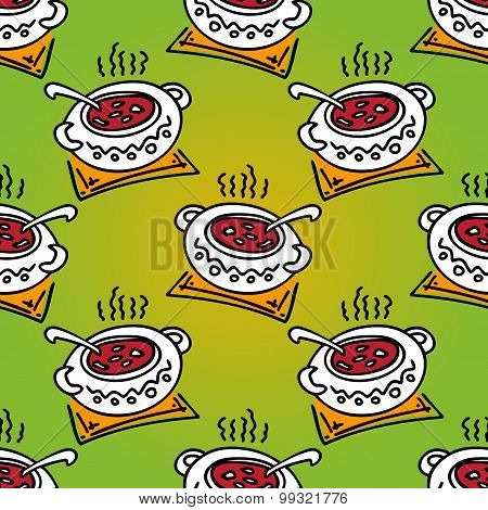 dinner seamless pattern