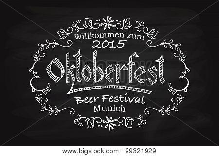 Vector Illustration Of Oktoberfest Logotype