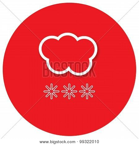 Cloud Of Snow. Vector Illustration.