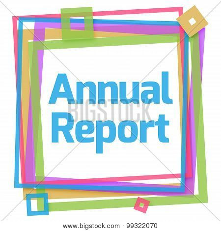Annual Report Colorful Frame