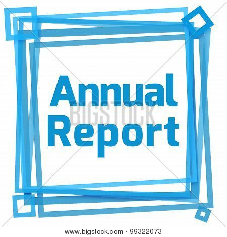 Annual Report Blue Frame