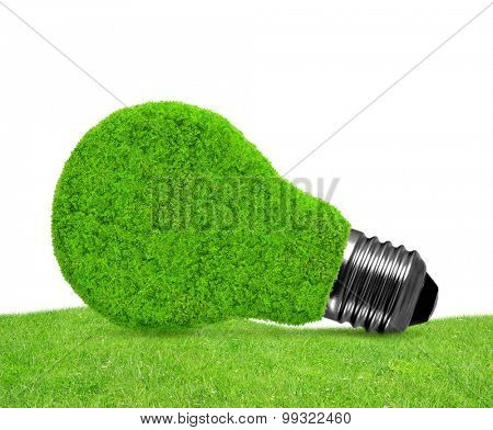 Eco energy bulb in grass - green energy concept