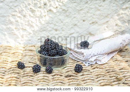 Blackberry with natural background.