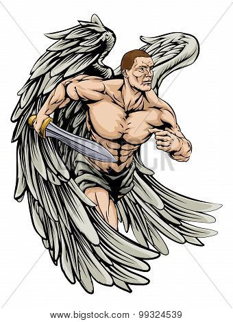 Warrior Angel Mascot
