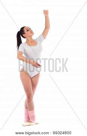 Girl Dancer Dressed As A Ballerina With Beautiful Makeup