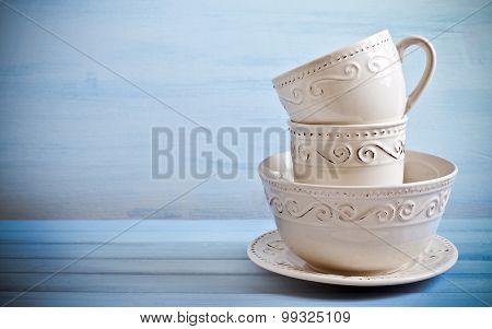 Tableware On Table