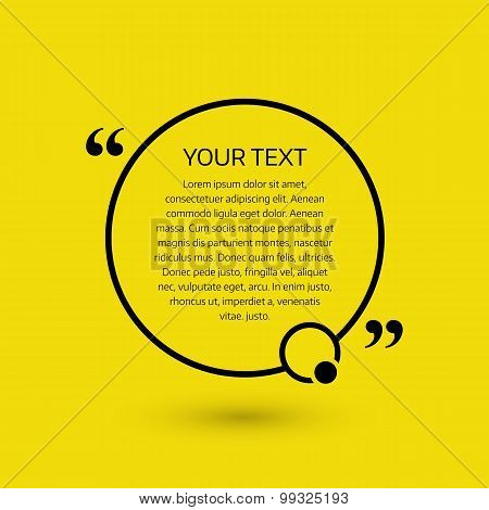 Text bubble, on a yellow background. Vector