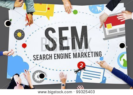 Search Engine Marketing Branding Technology Concept