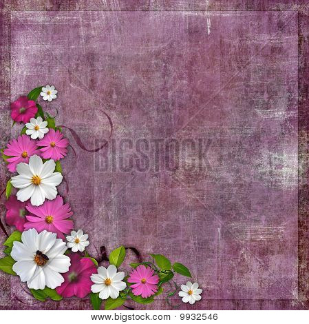 Image and illustration composition floral Corner design element for Easter, Mothers day card, weddin