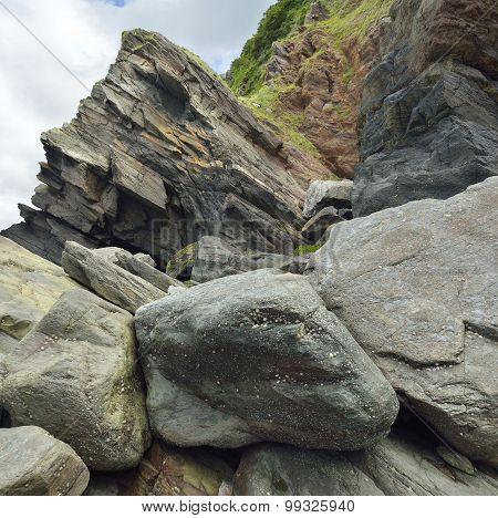 Rock Falls & Cliff, Woody Bay