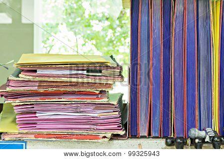 A Lot Of Stack Document Folder Hard Work
