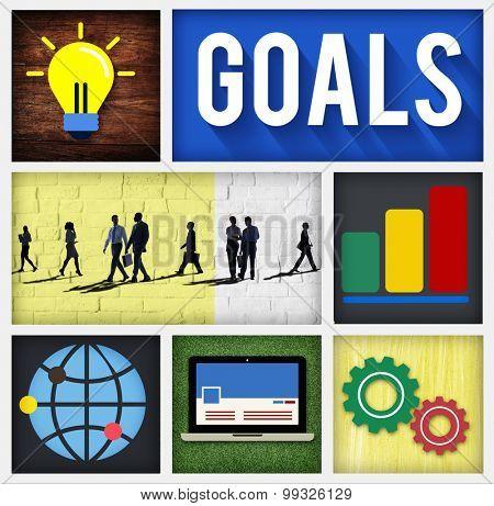 Goals Target Mission Success Inspiration Concept