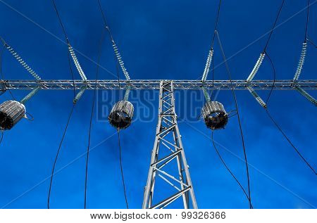 High-voltage Tower Wire