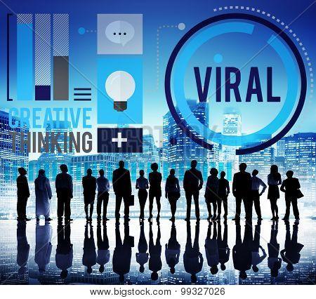 Viral Technology Global Sharing Concept