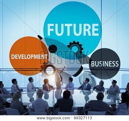 Future Development Goal Aspiration Futuristic Concept
