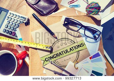 Congratulations Celebration Admiration Concept