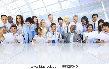 Group of Business People Meeting Teamwork Concept