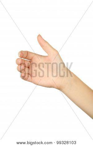Female hand gestures