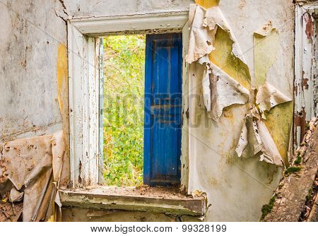 Window Of The Old Abandoned House