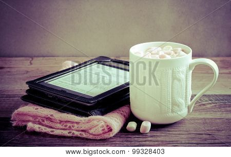 Hot Chocolate Drink With Marshmallow
