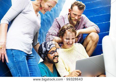 Friends Community Connection Discussion Teamwork Concept