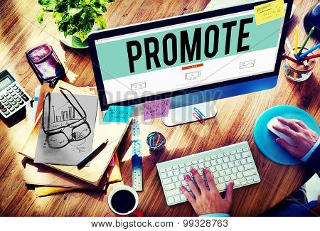 Promote Commerce Announcement Marketing Product Concept