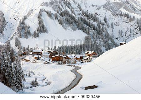 A Tiny Village Of Nesslegg, Schrocken, Austria